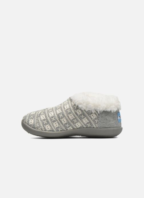 Chaussons TOMS House Slipper Gris vue face